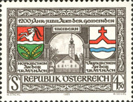 [The 1200th Anniversaries of the Towns of Weibern-Hofkirchen and Taufkirchen on Trattnach, Typ AZM]