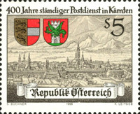 [The 400th Anniversary of Continuous Postal Service in Carinthia, Typ BDP]