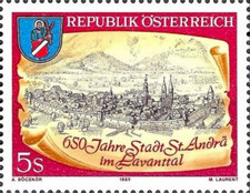 [The 650th Anniversary of the City of St. Andrä in the Lavant Valley, Typ BES]