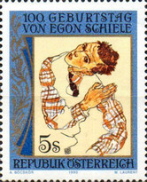 [The 100th Anniversary of the Birth of Egon Schiele, Typ BFY]