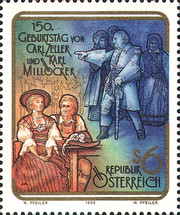 [The 50th Anniversary of the Birth of the Operetta Composers Carl Zeller and Karl Milloecker, Typ BIQ]