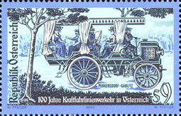 [The 100th Anniversary of the Inauguration of Austria's First Motorway, Typ BUD]