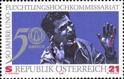 [The 50th Anniversary of UN-High Commissioner Refugees, Typ BVC]