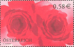 [Greeting Stamp - Roses, Typ BWB]