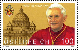 [The 80th Anniversary of the Birth of Pope Benedict XVI, Typ CLK]
