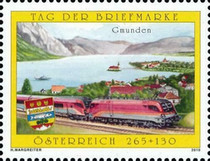 [Stamp Day - Austrian Railways Railjet, Typ CUX]