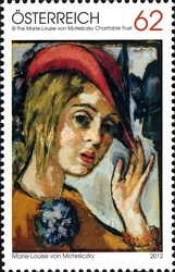[Paintings - Self-Portrait with Red Hat by Marie-Louise Von Motesiczky, 1906-1996, Typ DAC]
