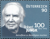 [The 100th Anniversary of the Birth of Robert Jungk, 1913-1994, Typ DBT]