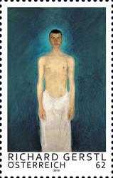 [Paintings - Semi-Nude, Self-Portrait by Richard Gerstl, 1883-1908, type DCD]