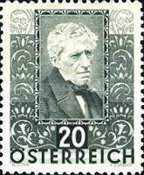 [Charity Stamps - Austrian Poets, Typ DG]