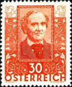 [Charity Stamps - Austrian Poets, type DH]