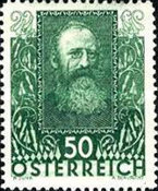 [Charity Stamps - Austrian Poets, type DJ]