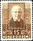 [Charity Stamps - Austrian Poets, type DK]