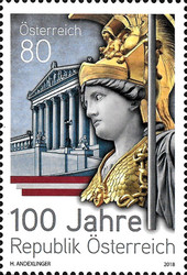 [The 100th Anniversary of the First Austrian Republic, Typ DOS]