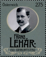 [The 150th Anniversary of the Birth of Franz Lehár, 1870-1948, Typ DTH]