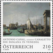 """[""""The Dogana at Venice"""", by Antonio Canal, 1697-1768, type DTN]"""