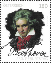 [The 250th Anniversary of the Death of Ludwig van Beethoven, 1770-1827, type DTQ]