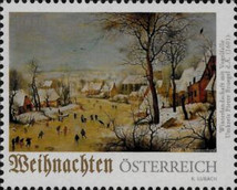 [Christmas - Winter Landscape with Bird Trap, type DUJ]