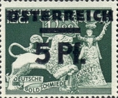 """[German Empire Postage Stamps Overprinted """"ÖSTEREICH"""" & Surcharged, type HO]"""