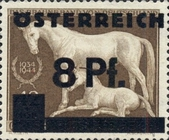 """[German Empire Postage Stamps Overprinted """"ÖSTEREICH"""" & Surcharged, type HQ]"""