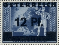 """[German Empire Postage Stamps Overprinted """"ÖSTEREICH"""" & Surcharged, type HR]"""