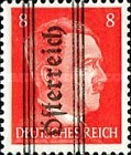 [Adolf Hitler,1889-1945 - Graz Overprint On German Empire Stamps, type HX]