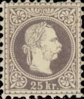 [Issues of Austro-Hungarian Monarchy - Emperor Franz Josef. Coarse Print, Typ I7]
