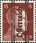 [Adolf Hitler,1889-1945 - Graz Overprint On German Empire Stamps, type IA]
