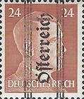 [Adolf Hitler,1889-1945 - Graz Overprint On German Empire Stamps, type ID]