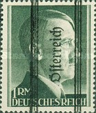 [Adolf Hitler, 1889-1945 - German Empire Postage Stamps Overprinted in Thick Letters - Österreich 18½ mm Long, type IL]