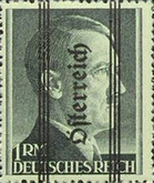 [Adolf Hitler, 1889-1945 - German Empire Postage Stamps Overprinted in Thick Letters - Österreich 18½ mm Long, type IL1]