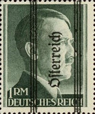 [Adolf Hitler, 1889-1945 - German Empire Postage Stamps Overprinted in Thick Letters - Österreich 16¼ mm Long, type IS]