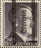 [Adolf Hitler, 1889-1945 - German Empire Postage Stamps Overprinted in Thick Letters - Österreich 16¼ mm Long, type IS1]