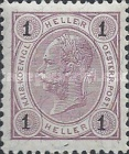 "[Emperor Franz Josef I, 1830-1916 - Value in ""Heller"" Without Varnish Bars, Numerals in Black, type N14]"