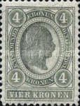 "[Emperor Franz Josef I, 1830-1916 - Value in ""Kronen"" - Without Varnish Bars, Numerals in White, type O10]"