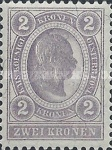 "[Emperor Franz Josef I, 1830-1916 - Value in ""Kronen"" - Without Varnish Bars, Numerals in White, type O9]"