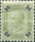 [Emperor Franz Josef I, 1830-1916 - Black Numerals on White Background, type P]