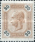 [Emperor Franz Josef I, 1830-1916 - Black Numerals on White Background, type P2]