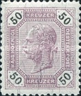 [Emperor Franz Josef I, 1830-1916 - Black Numerals on White Background, type P4]