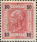 "[Emperor Franz Josef I, 1830-1916 - Value in ""Heller"" - Without Varnish Bars, Numerals in Black, type Q1]"