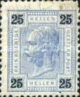 "[Emperor Franz Josef I, 1830-1916 - Value in ""Heller"" - Without Varnish Bars, Numerals in Black, type Q10]"