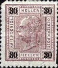 "[Emperor Franz Josef I, 1830-1916 - Value in ""Heller"" - Without Varnish Bars, Numerals in Black, type Q13]"