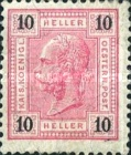 "[Emperor Franz Josef I, 1830-1916 - Value in ""Heller"" - Without Varnish Bars, Numerals in Black, type Q2]"