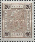 "[Emperor Franz Josef I, 1830-1916 - Value in ""Heller"" - Without Varnish Bars, Numerals in Black, type Q6]"