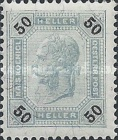 "[Emperor Franz Josef I, 1830-1916 - Value in ""Heller"" - Without Varnish Bars, Numerals in Black, type R6]"