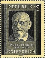 [Dr. Karl Renner Memorial Stamp, type RQ]