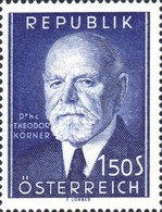 [The 80th Anniversary of the Birth of Dr. Theodor Körner, type SU]