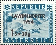 [Charity Stamp for Avalanche Victims. No. 659 Overprinted, Typ TK]