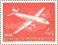 [First Flight of the Austrian Airlines