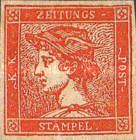 [Newspaper Stamps - Mercurius Head, Typ XBA3]